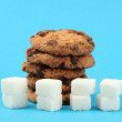Concept: Amount of sugar in food — Stock Photo