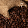 Royalty-Free Stock Photo: Coffee beans in bag close-up