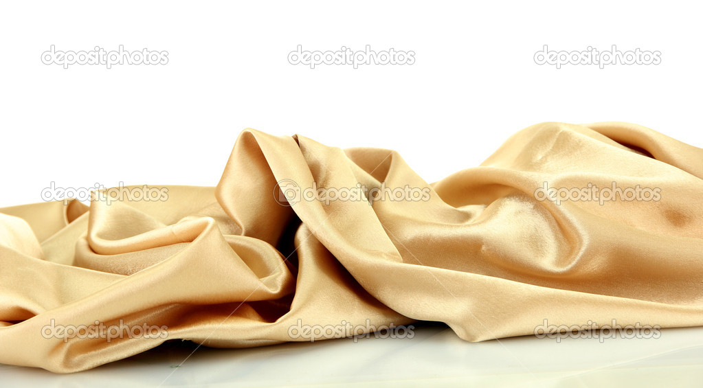 Beautiful silk drape, isolated on white — Stock Photo #17873835