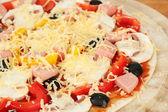 Pizza background — Stock Photo