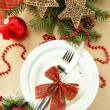 Beautiful christmas setting, close up — Stock Photo #18038039