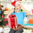 Foto Stock: Christmas gift for little girl