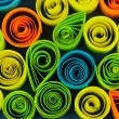 Zdjęcie stockowe: Colorful quilling close-up