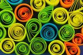 Kolorowy szczegół quilling — Zdjęcie stockowe