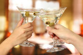 Corporate partij martini glazen — Stockfoto