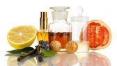 Tworzenie perfum na białym tle — Zdjęcie stockowe