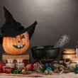 Scary halloween laboratory — Stock Photo #18051439