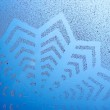 Snowflake pattern on window — Stock Photo #18051857