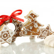 Christmas treats isolated on white - Stok fotoraf