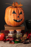Detail photo of Scary halloween laboratory — Stock Photo