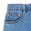 Stock Photo: Blue jeans with pocket closeup