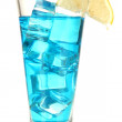 Blue Lagoon cocktail isolated on white — Stock Photo #18276497