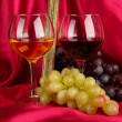 Composition of frame,wine and grapes on bright background — Stock Photo #18276763