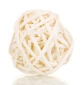 Wicker bambu bollen isolerad på vit — Stockfoto
