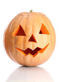 Halloween pumpkin, isolated on white — Stock Photo