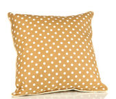 Brown bright pillow isolated on white — Stock Photo