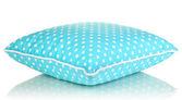 Azul brilhante travesseiro isolado no branco — Foto Stock