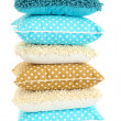 Hill colorful pillows isolated on white — Stock Photo #18295057