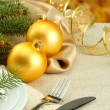 Beautiful christmas setting, close up — Stock Photo