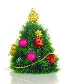 Decoración de árbol de navidad artificial aislado en blanco — Foto de Stock