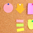 Colorful sticky notes on board — Stock Photo