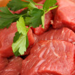 Royalty-Free Stock Photo: Raw beef meat close up