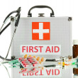 First aid box, isolated on white — Foto Stock