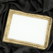 Empty frame on beautiful silk — Lizenzfreies Foto