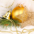 Stock Photo: Christmas decoration in white fur