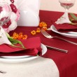 Elegant table setting in restaurant — Stock Photo #18572169