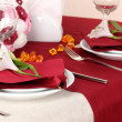 Stock Photo: Elegant table setting in restaurant