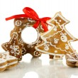 Christmas cookies isolated on white - Stock Photo