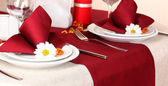 Elegant table setting in restaurant — Stock Photo