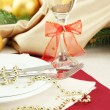 Beautiful christmas setting, close up — Stock Photo #18595571