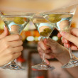 Stock Photo: Corporate party martini glasses