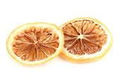 Dried lemon isolated on white — Stock Photo