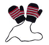 Children's gloves isolated on white — Zdjęcie stockowe