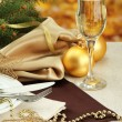 Beautiful christmas setting, close up — Stock Photo #18622819