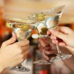 Corporate party martini glasses — Stock Photo #18623113