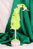 Christmas tree with curved tip — Stock Photo