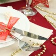 Beautiful christmas setting, close up — Stock Photo #18658751