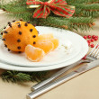 Beautiful christmas setting, close up — Stock Photo #18658777
