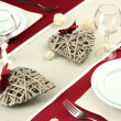 Foto Stock: Romantic table setting, close up