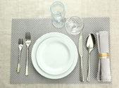 Table setting, close up — Foto Stock