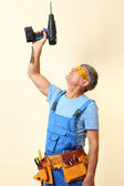 Handyman drill close-up — Stock Photo