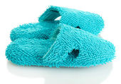 Bright slippers, isolated on white — Stock Photo