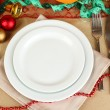 Diet during the New Year's feast close-up — Stockfoto