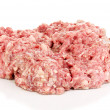 Raw ground meat isolated on white — Stock Photo