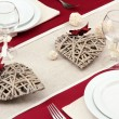 Romantic table setting, close up - Stock fotografie