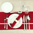 Holiday table setting, close up - Stock fotografie